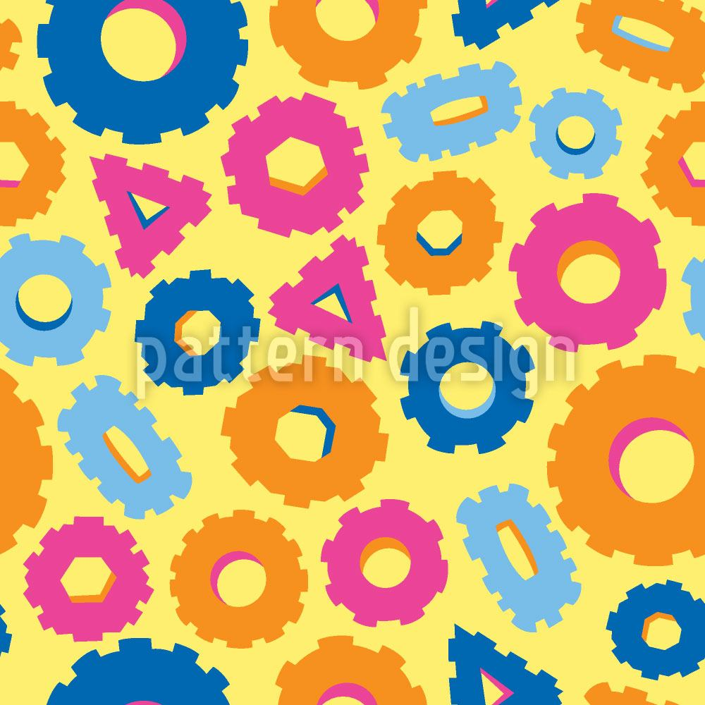Pattern Wallpaper Funny Gear