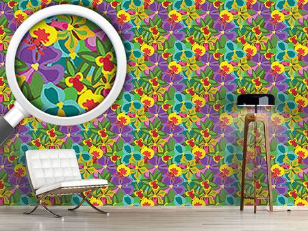 Pattern Wallpaper Colorful Orchid