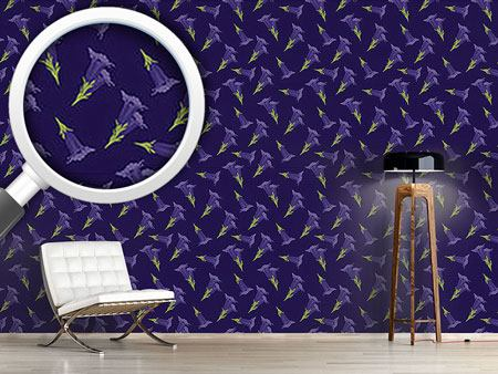 Pattern Wallpaper Gentian Blue