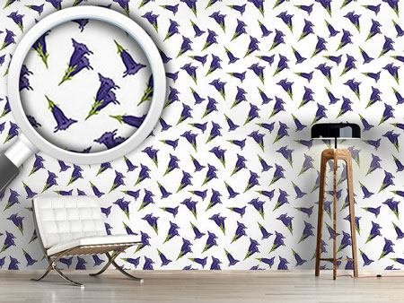 Pattern Wallpaper Gentian White