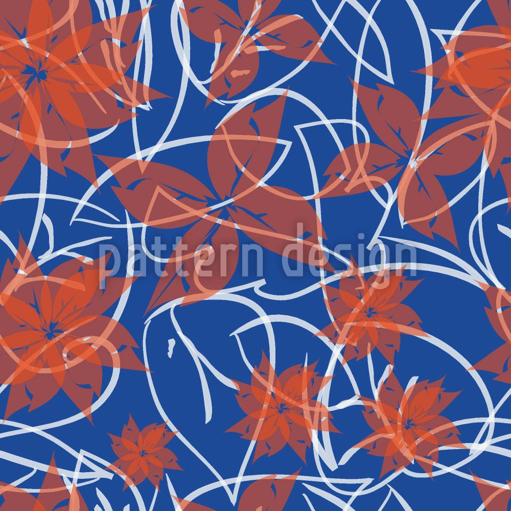 Papier peint design Autumnal flower