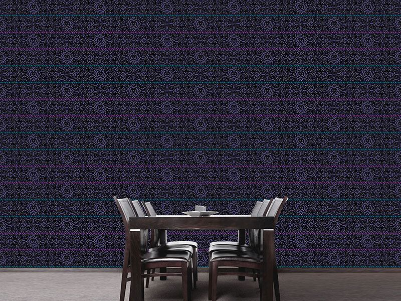 Pattern Wallpaper Tiziano Violet