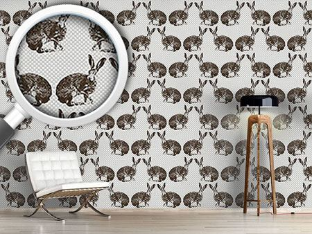 Pattern Wallpaper Hare Hunting Hearty