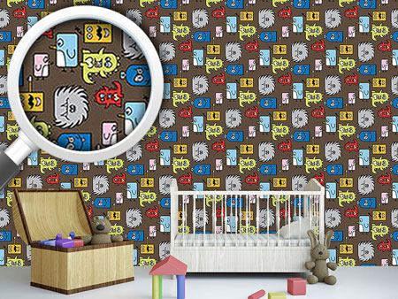 Pattern Wallpaper Colorful Monsters