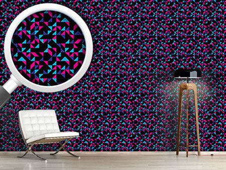 Pattern Wallpaper Retro Triangles