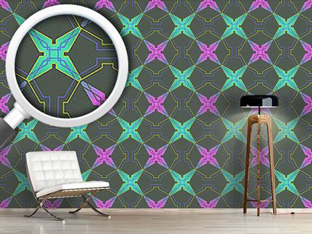 Pattern Wallpaper Greek Lattice