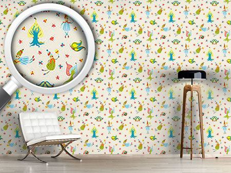 Pattern Wallpaper Forest Fairies