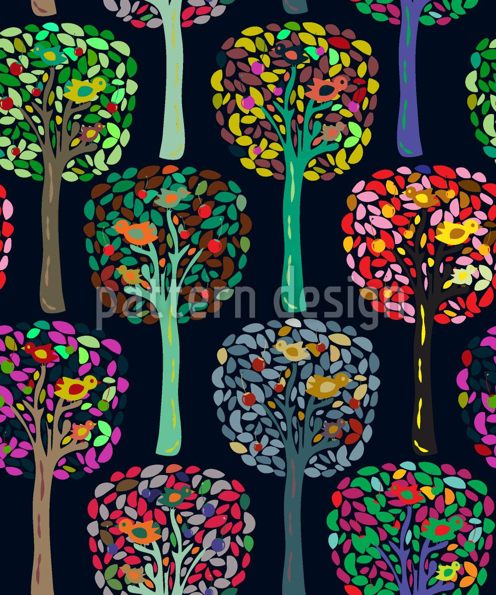 Pattern Wallpaper Cecilias Trees