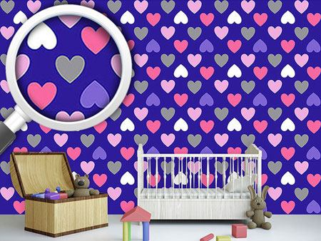 Carta da parati Purple Heart