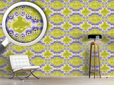 Pattern Wallpaper Pansy Crystal