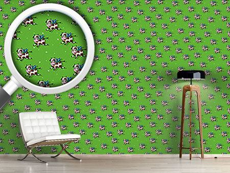 Pattern Wallpaper Flying Bulls