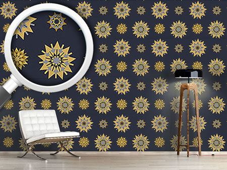 Pattern Wallpaper Retro Star Romance