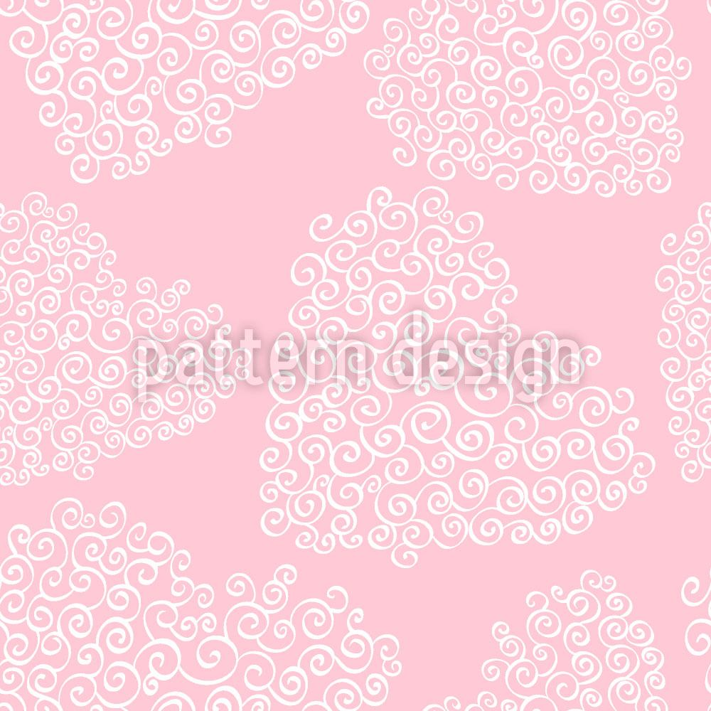 Pattern Wallpaper Fine Hearts