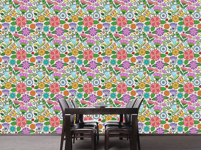 Pattern Wallpaper My Beautiful Garden