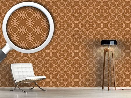 Pattern Wallpaper Star Check In Caramel