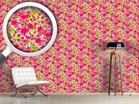 Pattern Wallpaper Cut Out Flora