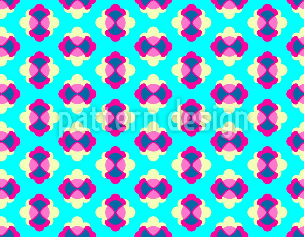 Pattern Wallpaper Flower Lagoon