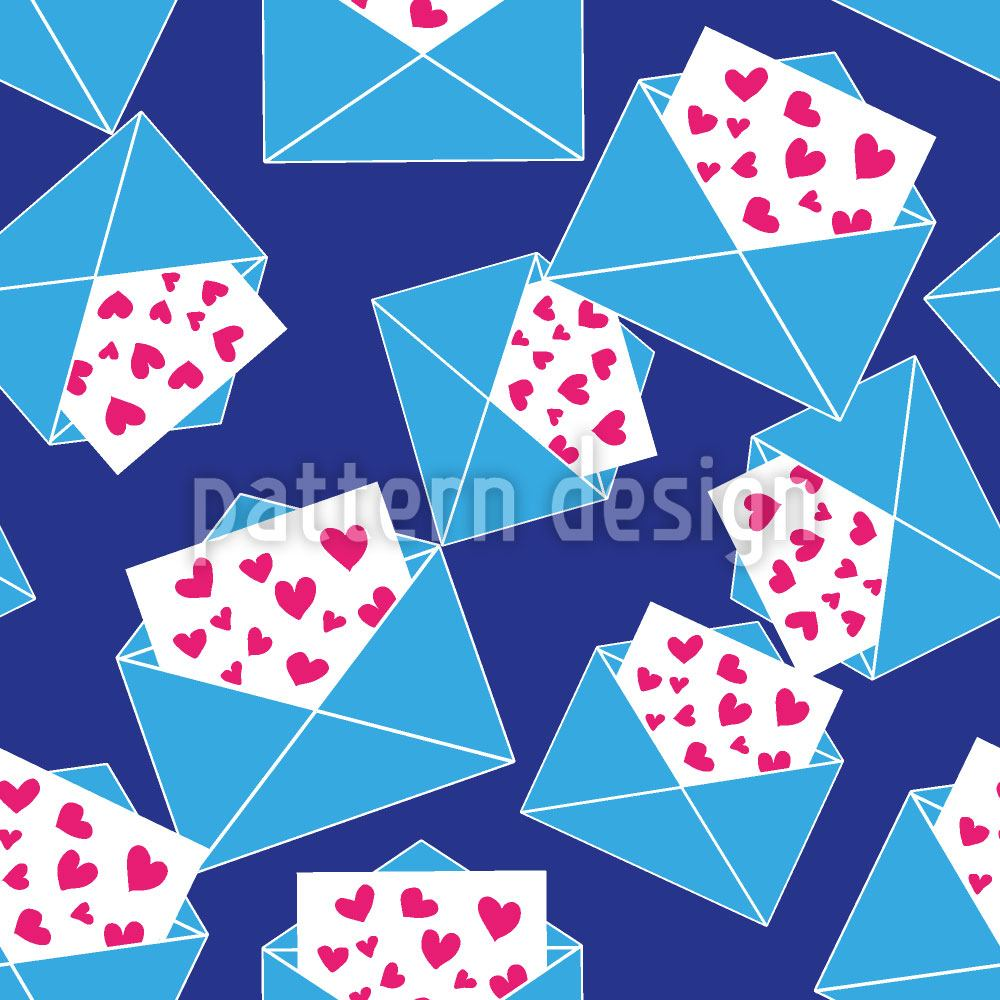 Pattern Wallpaper So Many Love Letters