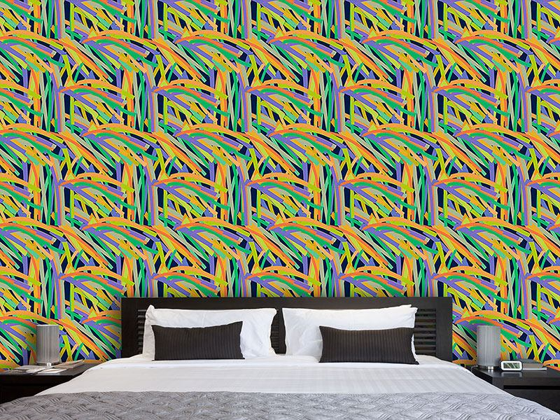 Pattern Wallpaper Stripe Jungle