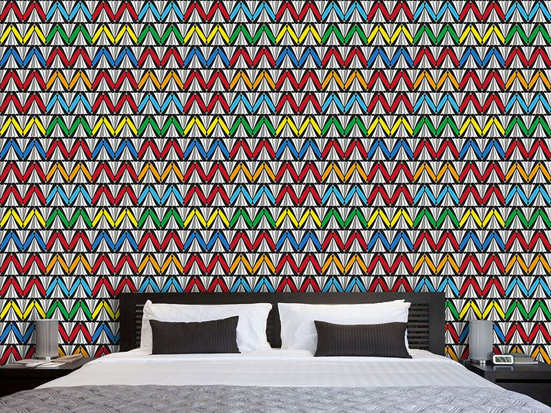 Pattern Wallpaper Zigzag Fun