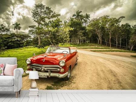 Photo Wallpaper A vintage car in Cuba