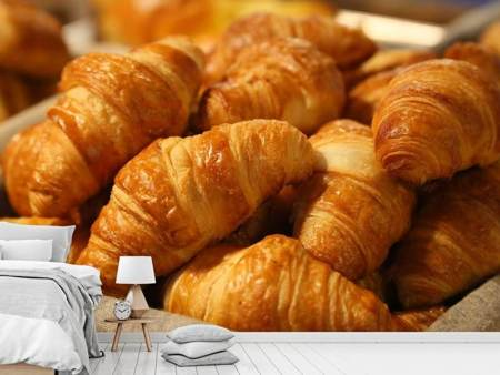 Photo Wallpaper Fresh croissants
