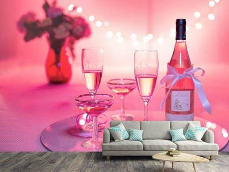 Photo Wallpaper Cheers in pink-red