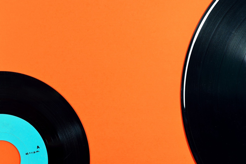 Photo Wallpaper Retro Vinyl Record Motif