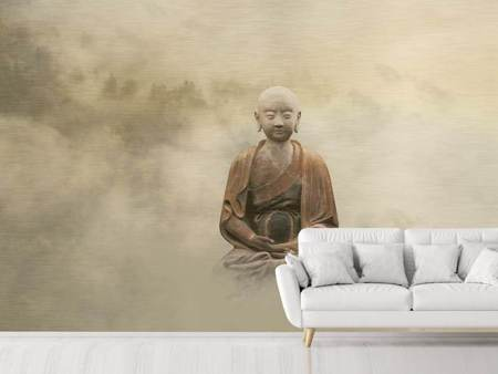 Photo Wallpaper Buddha in the nebulous light