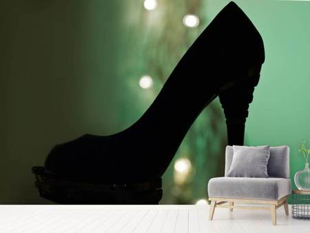 Photo Wallpaper Black high heel
