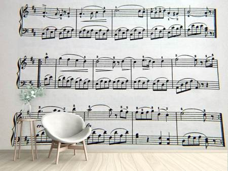 Photo Wallpaper Music notes