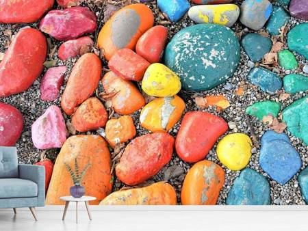 Photo Wallpaper Colorful stones