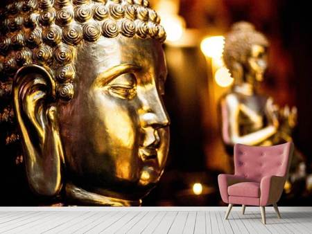 Photo Wallpaper Golden Buddhas