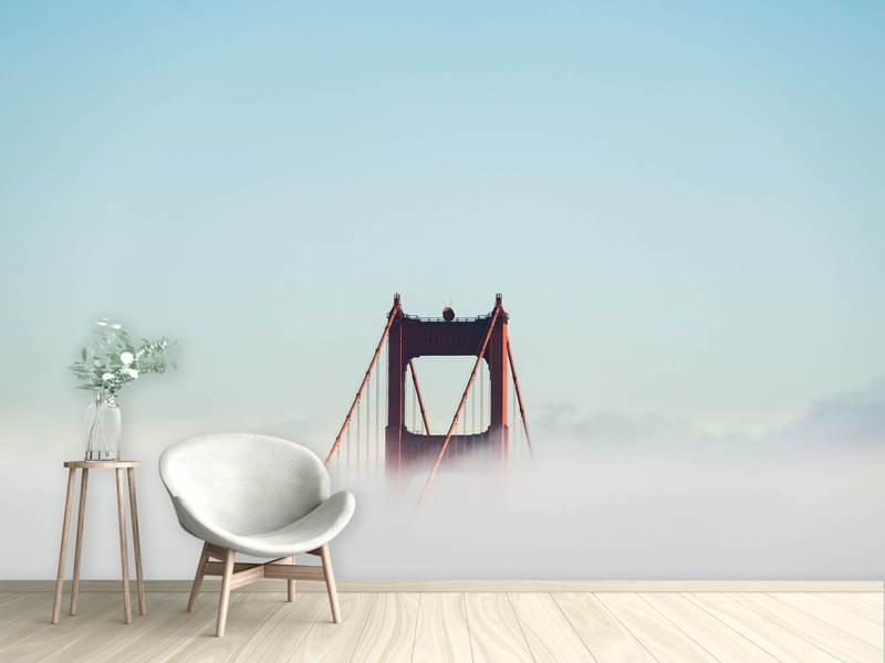 Papier peint photo Golden Gate dans le brouillard