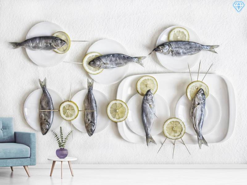 Fotomurale Still Life With Fish