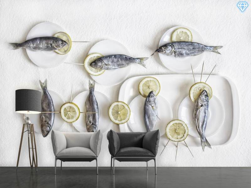 Papier peint photo Still Life With Fish
