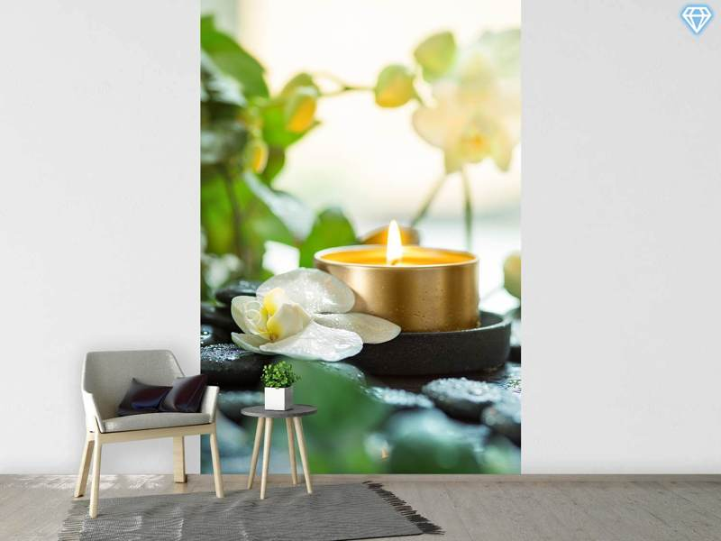 Papier peint photo Zen Orchid And Candle