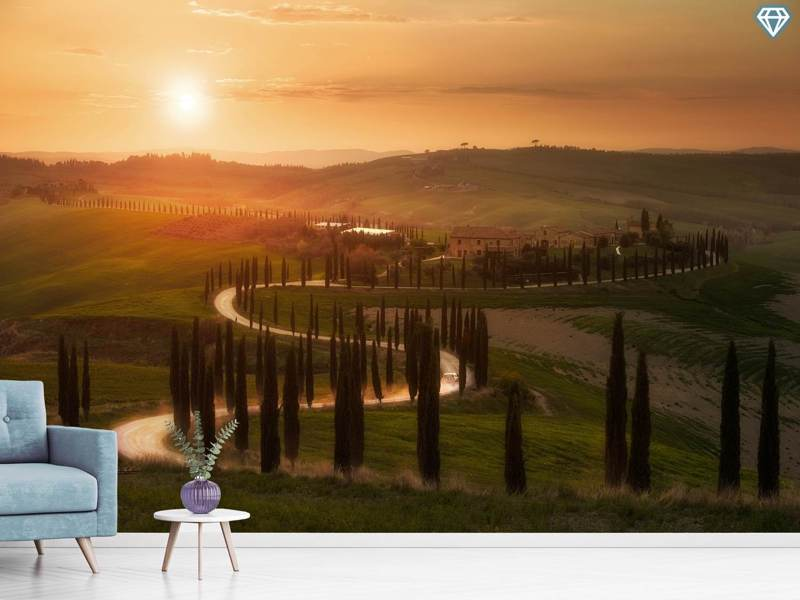 Fotomurale Tuscany Evening