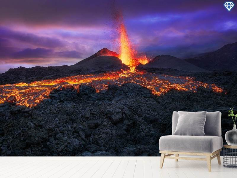 Fotomurale Fire At Blue Hour