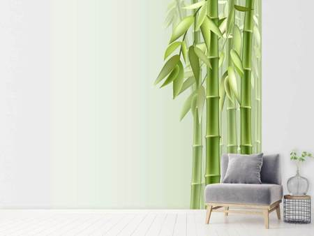 Photo Wallpaper Green Bamboo