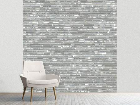 Photo Wallpaper Stone Wall In Gray
