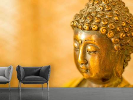 Photo Wallpaper Buddha Head