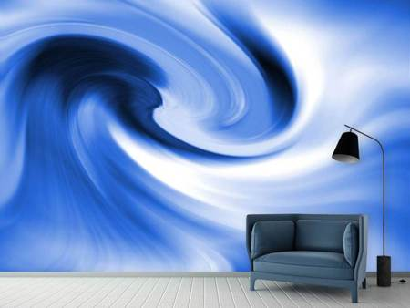 Photo Wallpaper Abstract Blue Wave