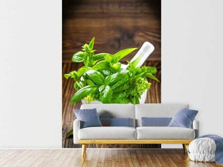 Photo Wallpaper Fresh Basil