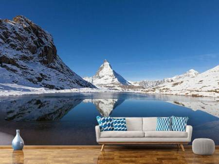 Photo Wallpaper The Riffelsee On Matterhorn